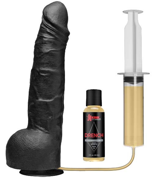 The Drencher - Huge Black Squirting Dildo