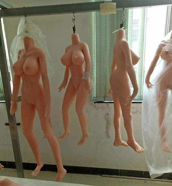 Sex Dolls Hanging in Storage